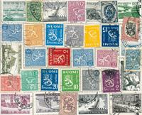 Finland - Frimærkepakke - 32 forskellige stempled e frimærker