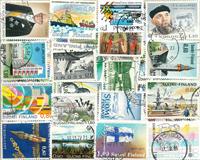 Suomi - 103 erilaista leimattua postimerkkiä