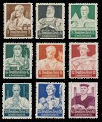 Tyske Rige 1934 - Michel 556-564 - Postfrisk