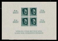 Tyske Rige 1937 - Michel Blok 11 - Postfrisk