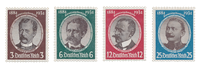 Tyske Rige 1934 -Michel 540-43 - Postfrisk