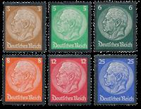 Tyske Rige 1934 - Michel 548-53 - Postfrisk