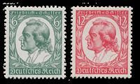 Tyske Rige 1934 - Michel 554-55 - Postfrisk