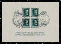 Empire Allemand 1937 - Michel Blok 9 - oblitéré