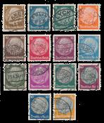 Tyske Rige 1933 - Michel 482-95 - Stemplet