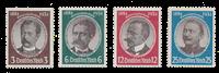 Tyske Rige 1934 - Michel 540-43 - Ubrugt