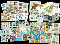Samlet særtilbud - 4 frimærkepakker med miniark