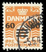 Færøerne - Provisorie AFA 6A stemplet