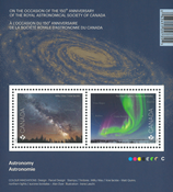 Canada - Astronomi - Postfrisk miniark