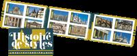 Frankrig - Historiske bygninger - Postfrisk frimærkehæfte