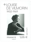 Frankrig - Louise Vilmorin - Postfrisk frimærke