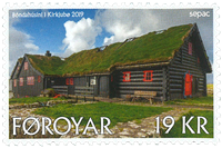 Færøerne - SEPAC Det gamle bondehus i Kirkjubøur - Postfrisk frimærke