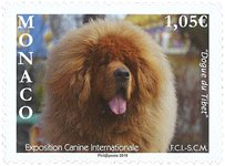 Monaco - Exposition Canine Int. 2019 - Timbre neuf