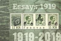 Færøerne - 1919-provisorier - Postfrisk miniark
