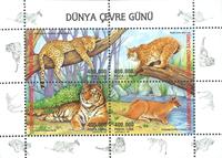 Tyrkiet - Tiger - rovdyr - Postfrisk miniark