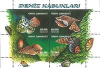 Tyrkiet - Konkylier - Postfrisk miniark