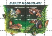 Turquie - Coquilles - Bloc-feuillet obl.