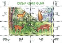 Tyrkiet - Miljøbeskyttelse - Stemplet miniark