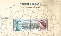 Norfolk Islands - Bosættelse på Pitcairn - Postfrisk miniark