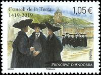 Andorre francais - Consell Terra - Timbre neuf
