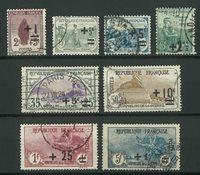 France 1922 - YT 162-69 - Oblitéré