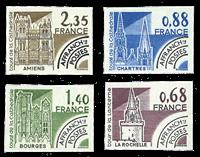 Frankrig - YT 162-65 Monumenter - Forudannulleret