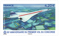 France - Concorde - Mint airmail stamp