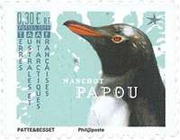 French Antarctic - Gentoo penguin - Mint stamp