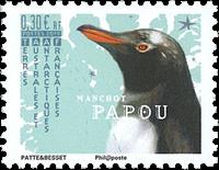Fransk Antarktis - Æselørepingvin - Postfrisk frimærke
