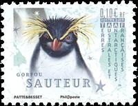 Fransk Antarktis - Springpingvin - Postfrisk frimærke