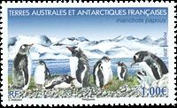 Fransk Antarktis - Pingviner'19 - Postfrisk frimærke