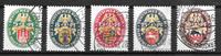 Deutsches Reich 1928 - AFA  424-428 - Leimattu