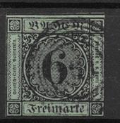 Wurttemberg 1851 - AFA 3 - stemplet