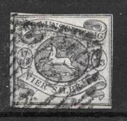 Brauschweig 1853 - AFA 3 - Cancelled