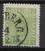 Sverige 1858 - AFA 7 - stemplet