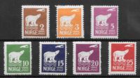 Norge 1925 - AFA 107-113 - ustemplet