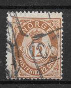 Norvège 1883 - AFA 41a - oblitéré
