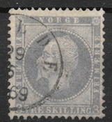 Norge 1856 - AFA 3 - stemplet