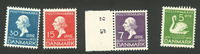 Danmark - AFA 223+224+226+228 postfrisk H.C. Andersen