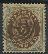 Danmark - AFA 19 stemplet