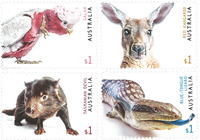 Australia - Fauna in Australia - Mint set 4v