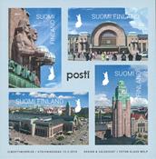 Finlande - Gare de Helsinki - Bloc-feuillet neuf