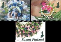 Finland - Blomsterkunst - Postfrisk sæt 3v