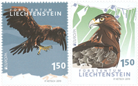 Liechtenstein - Europa / Fugle - Postfrisk sæt 2v