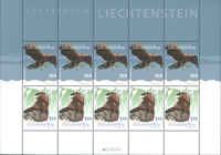 Liechtenstein - Europa Cept 2019 / Oiseaux - Feuillet neuf