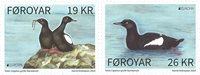 Îles Féroé - Europa Cept - Oiseau Guillemot à miroir - Série neuve 2v
