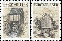 Færøerne - Vandmøller - Postfrisk sæt 2v