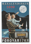 Færøerne - Månelanding - Postfrisk frimærke