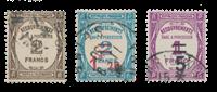 Impero Tedesco - 1927/1931 - Y&T TX 62, 64, 65 - timbrato