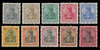 Impero Tedesco - 1902 - Michel 68/77 - nuovo linguello